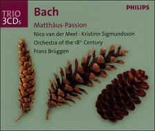 "Bach ""Matthaus-Passion"" St Matthew Passion (3 CD Set, DDD Philips 160 minutes)"