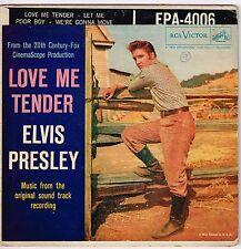 """ELVIS PRESLEY Love Me Tender 1956 RCA Victor EPA-4006 45 RPM EP 7"""" Vinyl EX!"""