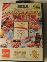 Sega Master System Game -- OLYMPICS GOLD BARCELONA 92 -- 1992
