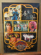 Vintage Rock and roll Sgt. Pepper's lonely hearts club band poster 1978 747