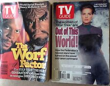 Lot of 2 Collectible Star Trek TV Guides DS9 Worf Factor/Out of This World G/VG