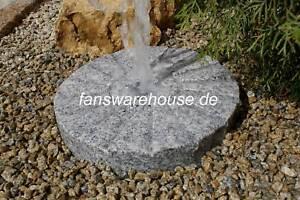 Mühlstein Brunnen Granit Naturstein Dekostein D 30 cm