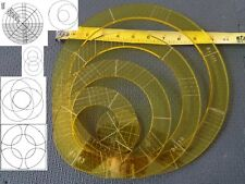 Quilting Template Ruler 5mm Nesting Rings for Long Arm, High Shank Machines