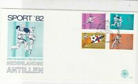 Netherlands Antillen 1982 Sports Slogan Cancel FDC Various Stamps Cover Ref25205
