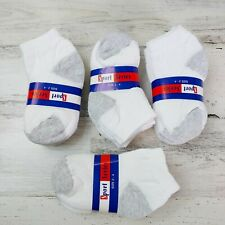Toddler Boy Ankle Socks Size 2T 3T 4T White and Gray Lot 12 Pair - Made In Usa