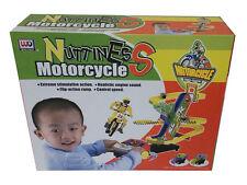 Children Kids Motorcycle Stunt Bike Set  B/O Nuttiness Race Track Sound UK Stock