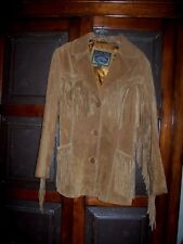 Pacific Trail Vintage Southwestern Suede Leather Fringed Jacket Coat Women's S