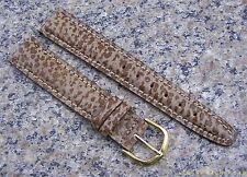 18mm  Taupe NOS Watch Band Genuine SHARK SKIN Strap Made in USA Item #650
