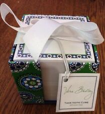 VERA BRADLEY Take Note Cube 600 Loose Notes Cupcakes Green - New In Packaging
