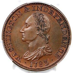 1783 Res GW-107 PCGS PR 64 BN EE Washington Draped Bust Colonial Copper Coin