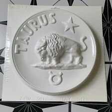Vintage Plastic Plaster Chalkware Taurus Bull Ox Zodiac Astrology Deep Flex Mold