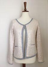 NWOT SOFT SURROUNDINGS Ivory Sequin Knit Jacket Sz M