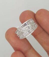 0.91 Ct. NEW 18K 750 WHITE GOLD BAGUETTE CUT DIAMOND LADIES DESIGNER RING BAND