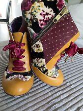 """Irregular Choice Ladies Shoe/Boots """"Blair Elf Glow"""" Mustard Size 5 (38)"""