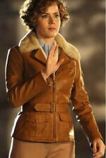 Night at the Museum 2 Amy Adams Aviator Fur Collar Jacket - For Women