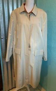 Vintage Ognibene Zendman Neiman Marcus Silk/Wool Trench Coat, Size 14