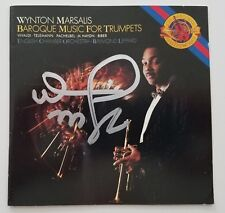 Wynton Marsalis Signed Baroque Music For CD Booklet Trumpet LEGEND RAD