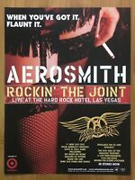 2000 Aerosmith Rockin' the Joint Live CD Vintage Print Ad/Poster Official Promo
