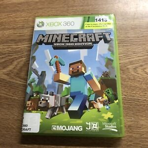 MINECRAFT XBOX 360 EDITION Ex-Library Copy Disk is Excellent