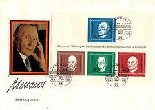 Bund FDC Block 4 ,1. Todestag von Konrad Adenauer + 21 x 30 Pfennig ungestempelt