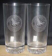 American Mutual Life Insurance Company Crystal Glass Set of 2