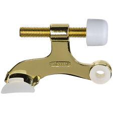 (Lot Of 2) Stanley 81-9110 Bright Brass Hinge Pin Door Stop Doorstop