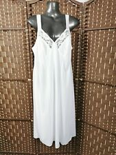NWT M&S White Full Slip Petticoat Dress Cling Resistant Lace Trimmed Size 12 #c1
