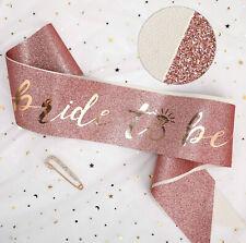 Bride To Be Hen Sash Veil Tiara Hens Night Bridal Shower Accessories Glitter