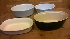 SET of 4 Mini Oven / Pie / Serving Dishes (dark green one by Emile Henry)