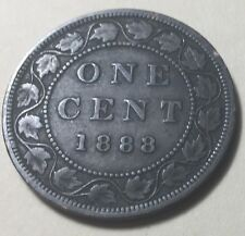 CANADA 1888 LARGE ONE CENT COIN - QUEEN VICTORIA
