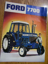 VINTAGE FORD TRACTOR ADVERTISING BROCHURE -7700 TRACTOR
