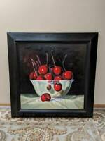"""Z Gallerie 48""""W x 48""""H  RM Cherries. Oil painting on canvas."""