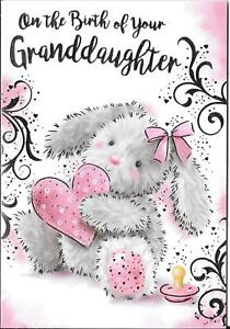 GREETINGS CARD ON THE BIRTH OF YOUR GRANDDAUGHTER