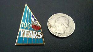 USA Olympics Swimming Team 100 Years Anniversary Pin