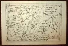 carte geographique ancienne LA BOURGOGNE FRANCHE COMTE 1712 Montecalerio Ioannis