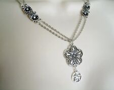 Flower Of Life Pentacle Necklace, wiccan pagan wicca witch witchcraft pentagram