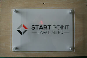 MODERN ACRYLIC SIGNS A5/A4/A3 - BUSINESS PLAQUE - HOUSE SIGN - DOOR NUMBER