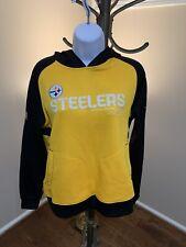 Reebok Pittsburgh Steelers On Field Hoodie Sweatshirt Women's M
