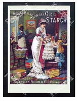 Historic Hovey's Starch 1880 Advertising Postcard
