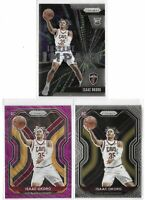 2020-21 Prizm Isaac Okoro Rookie Lot Of 3 W/ Base Purple Wave SP Instant Impact