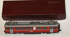 BEMO RhB-Triebwagen ABe 4/4 501 rot, H0m analog,  Art.1265 134, OVP