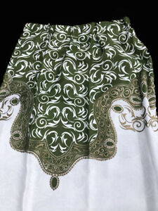 Pair Of Vintage French? Damask Interlined Curtains handmade???