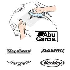 Fishing Logo Iron Sticker Decal Emblem For Clothes Berkley Steez Abu Garcia #L1