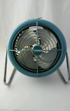 Vintage Dominion Turquoise Electric Fan Model 2007 Working!  Nice!