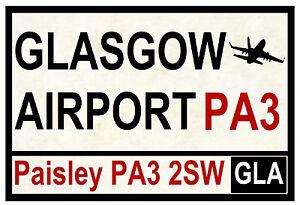 Street / Route Plaques (Glasgow Aéroport) - Souvenir Nouveauté Magnétique -