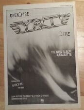 Y & T Open fire Live  1985 press advert Full page 39 x 28 cm mini poster