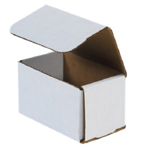"1-500 Choose Quantity 5x3x3 Corrugated White Mailers Packing Boxes 5"" x 3"" x 3"""
