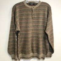 Vintage Men's The Italian Sweater Co. Textured Knitted Sweater Men 1990s Grandpa