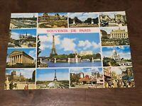 Vintage Souvenir De Paris Postcard