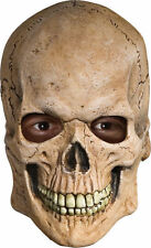 Crypt Skull Horror Skeleton OVerhead Latex Mask Halloween Costume Accessory